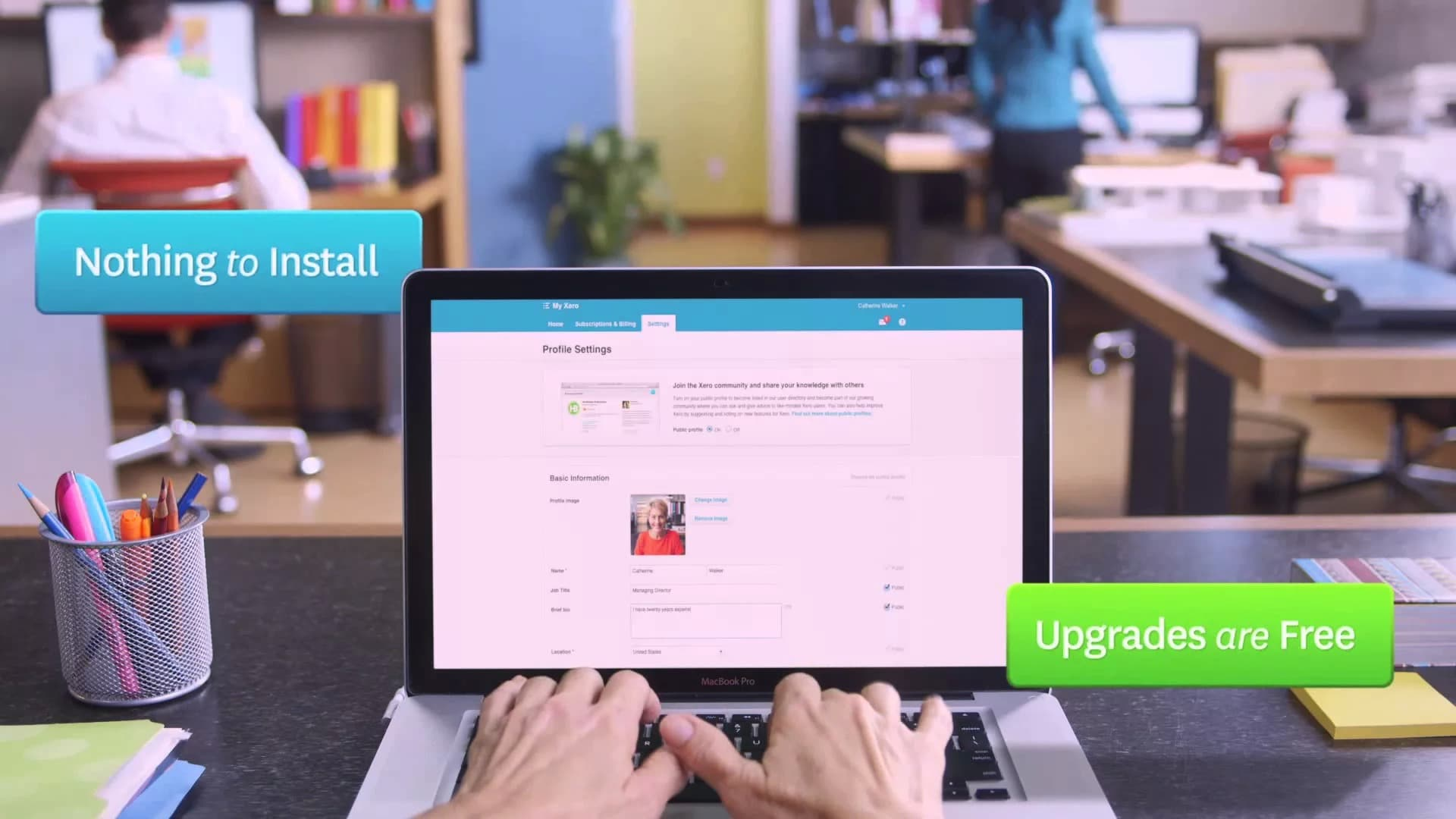 A preview image of a video about some of the features of Xero cloud accounting software